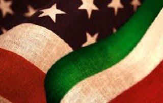 bandiera usa e italia